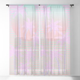 Hello Miami Sunrise Sheer Curtain