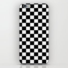 Checkers - Black and White iPhone Skin