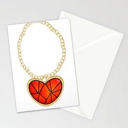Jeweled Heart Locket Stationery Cards