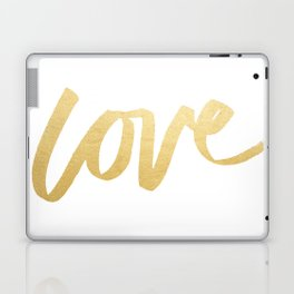 Love Gold White Type Laptop & iPad Skin