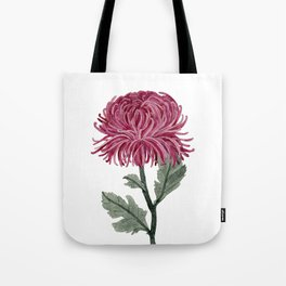 Pink Chrysanthemum Tote Bag