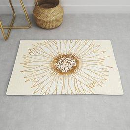 Gold Sunflower Rug