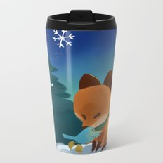 Fox & Boots - Winter Hug Metal Travel Mug