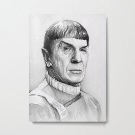Spock Leonard Nimoy Portrait Metal Print
