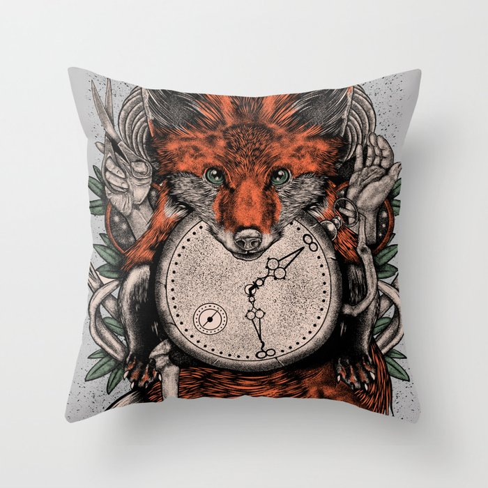 Chaos Fox Throw Pillow