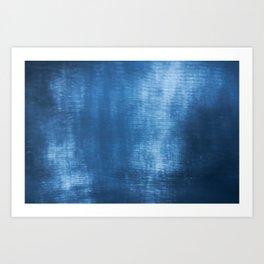 Abstract blue texture Art Print