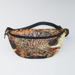 furry fish otter splatter watercolor Fanny Pack