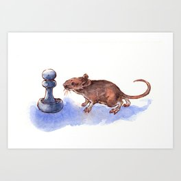 Mouse and Pawn Art Print