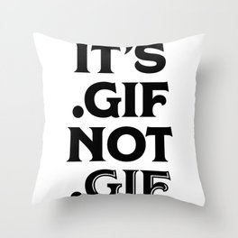 .gif not .gif (Regina Black Edition) Throw Pillow