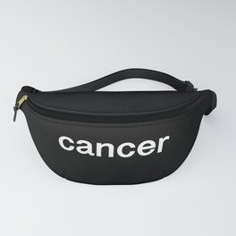 Cancer (Black) Fanny Pack