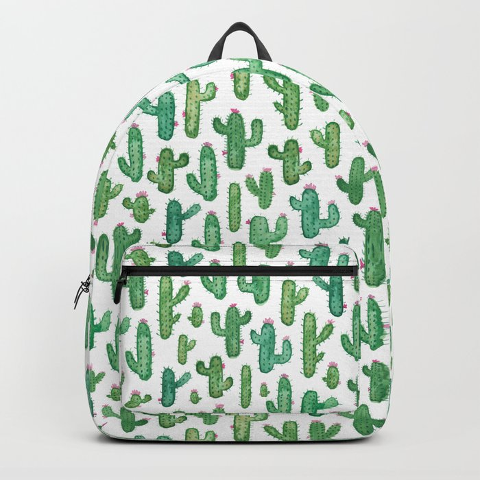 Cactus Pattern. Backpack