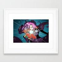 utena Framed Art Prints featuring Utena by Monica Ray