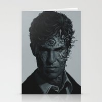 true detective Stationery Cards featuring True Detective Poster by yurishwedoff