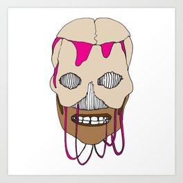 Skull Head Street Art Design Art Print