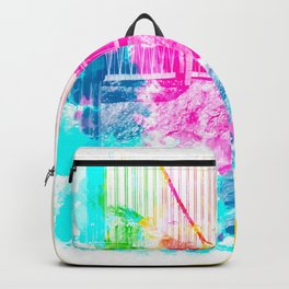 closeup Golden Gate bridge, San Francisco, USA with colorful painting abstract background Backpack