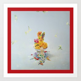 Year of the Rooster (with border) Art Print