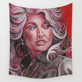 Dolly Parton in Pink Wall Tapestry
