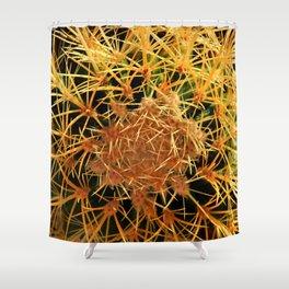 Deep Color Cactus Shower Curtain
