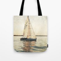 sailing Tote Bags featuring Sailing by Mary Kilbreath