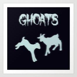 Ghoats Art Print