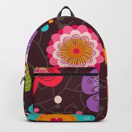 futuristic flowers Backpack