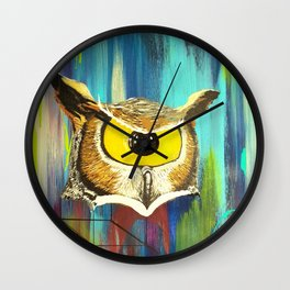 Spirit Animal Sight: Owl Wall Clock
