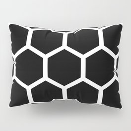 Honeycomb pattern - Black and White Pillow Sham