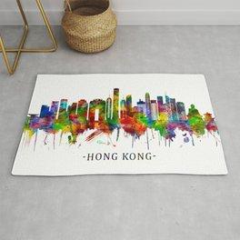 Hong Kong China Skyline Rug
