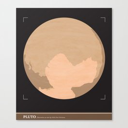 PLUTO (illustrated as seen) Canvas Print