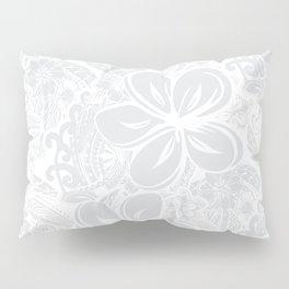 Maui Polynesian Silver Wedding Pillow Sham