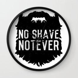 No Shave NotEver Wall Clock