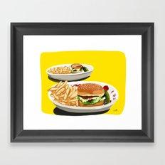 Homemade Cheeseburger Framed Art Print