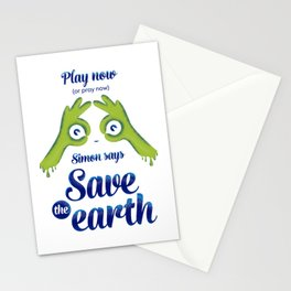 Simon says... Save the earth Stationery Cards