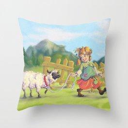 Shepherdess Throw Pillow