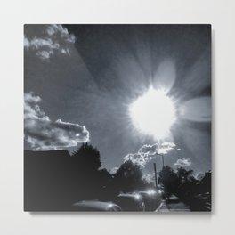 Monochrome, North London. Metal Print