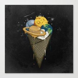 Galactic Ice Cream Canvas Print