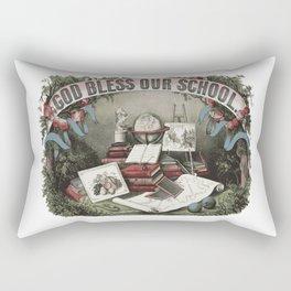 GOD BLESS OUR SCHOOL Pop Art Rectangular Pillow