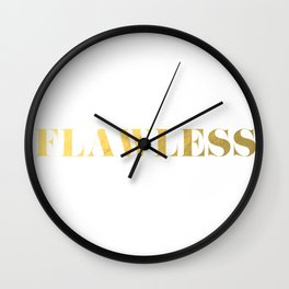 Flawless (Gold) Wall Clock
