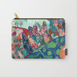 Floral Migrant Quilt Carry-All Pouch