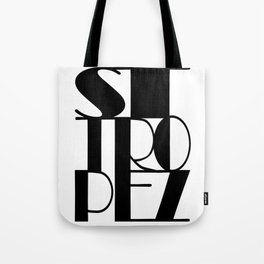 St. Tropez in black Tote Bag