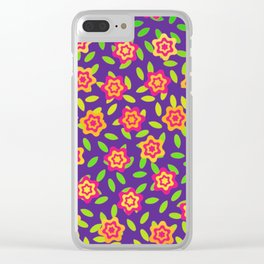 Flowers and Leaves Clear iPhone Case