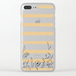 growing towards the sun Clear iPhone Case