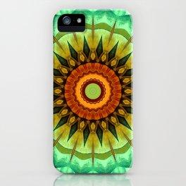 Mandala greentones no. 2 iPhone Case
