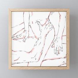 What a good night minimalist sketch Framed Mini Art Print