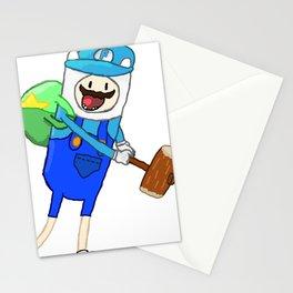 Mario + Finn Crossover Stationery Cards