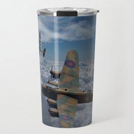 Lancaster Bomber and Spitfires Travel Mug