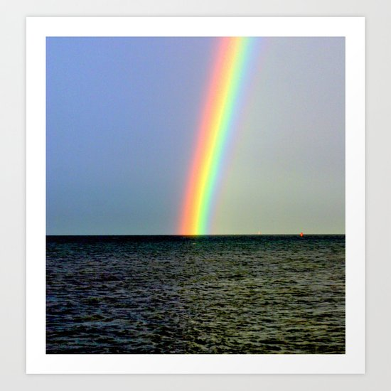 Pot of gold over the Bay Art Print