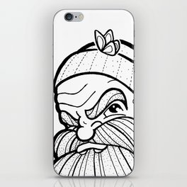 The Beard & the Butterfly iPhone Skin
