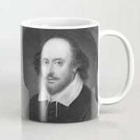 shakespeare Mugs featuring William Shakespeare by Palazzo Art Gallery