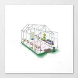 Garden Greenhouse home illustration house print Canvas Print